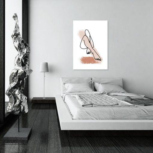plakat kobiecych nóg