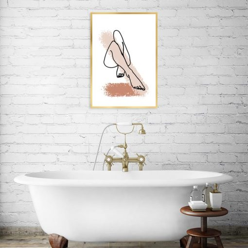 plakat artystyczny do łazienki