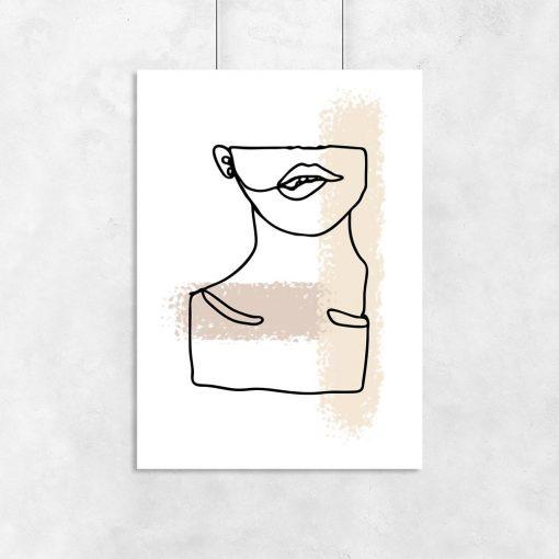 plakat artystyczny twarz i szyja