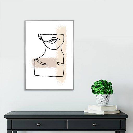 beżowy plakat minimalistyczny