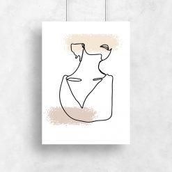 plakat artystyczny szkic kobiety