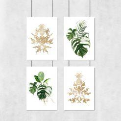 plakaty z motywem liści