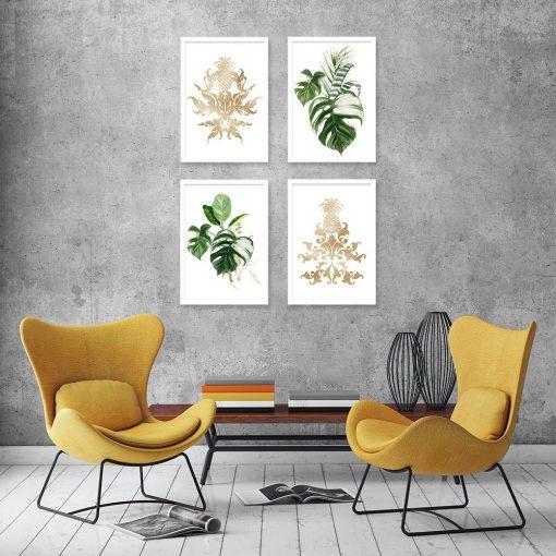 plakat zielono-złoty