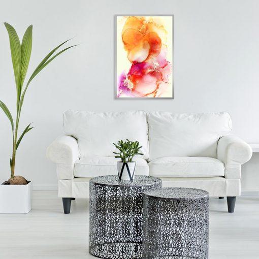 abstrakcyjny plakat plamy