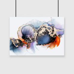 abstrakcyjne plamy na plakacie