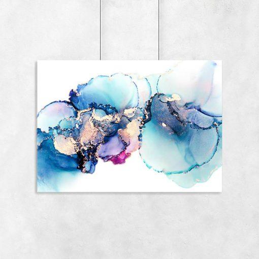 plakat w abstrakcyjne plamy