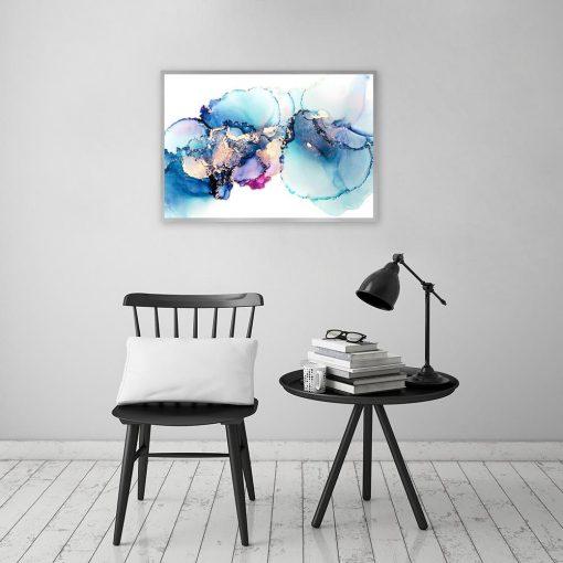 plakat z abstrakcyjnym motywem