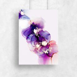 fioletowy plakat w plamy
