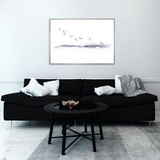 plakat z krajobrazem do salonu