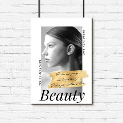plakat z kobietą i sentencjami