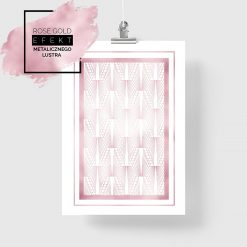 Plakat rose gold geometryczne wzory