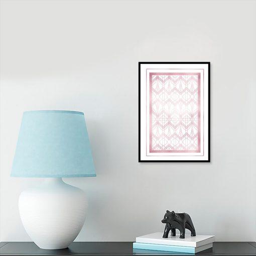 Plakat geometryczny rose gold