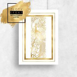 Złoty plakat paw
