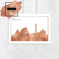 Metaliczny plakat rzym