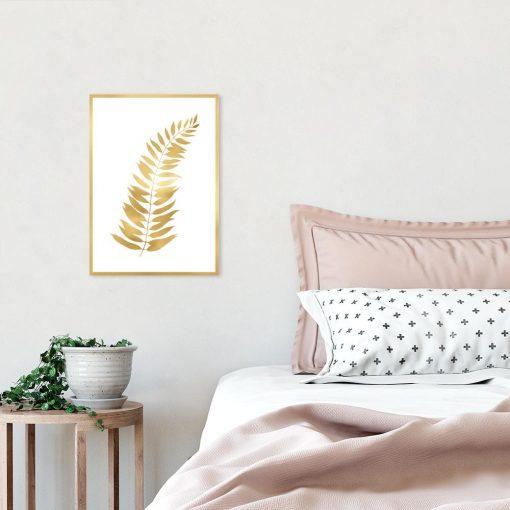 Plakat z motywem liścia