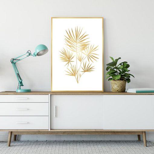 Plakat pozłacany z palmą