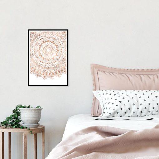 metaliczny plakat z mandalą