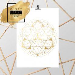 Pozłacany plakat geometryczny