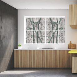 Folia witrażowa bambusy