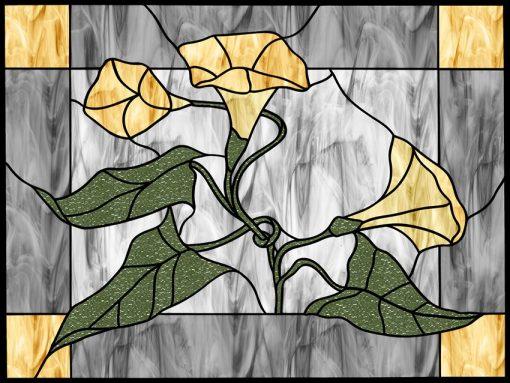 Witraż samoprzylepny kwiaty