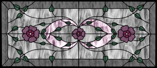 Witraż samoprzylepny z kwiatami