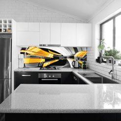 fototapeta do kuchni z abstrakcją