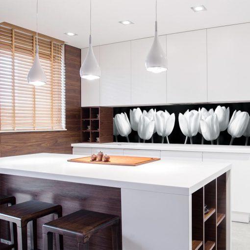 tapeta kuchenna z motywem tulipanów