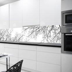 fototapeta kuchenna czarno-biała