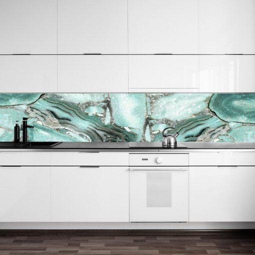fototapeta kuchenna miętowa abstrakcja