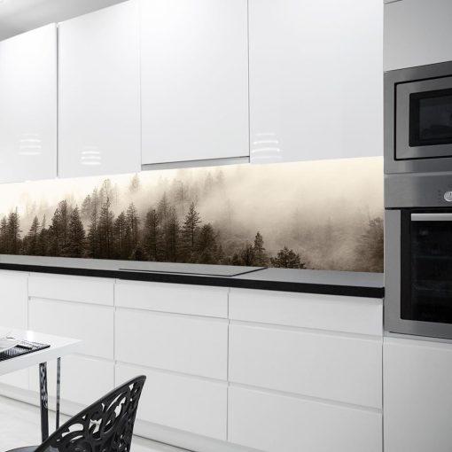 fototapeta kuchenna beżowy las