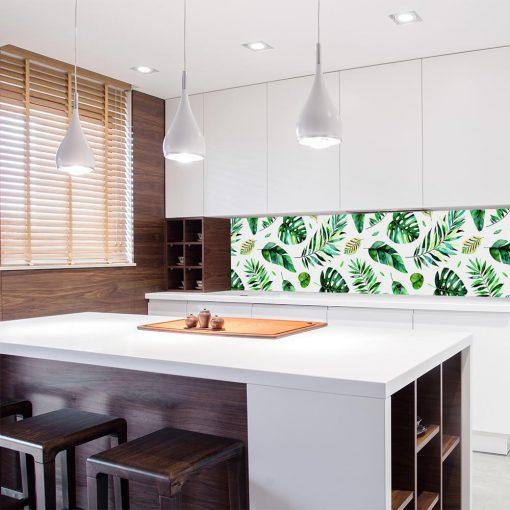 Zielona fototapeta kuchenna
