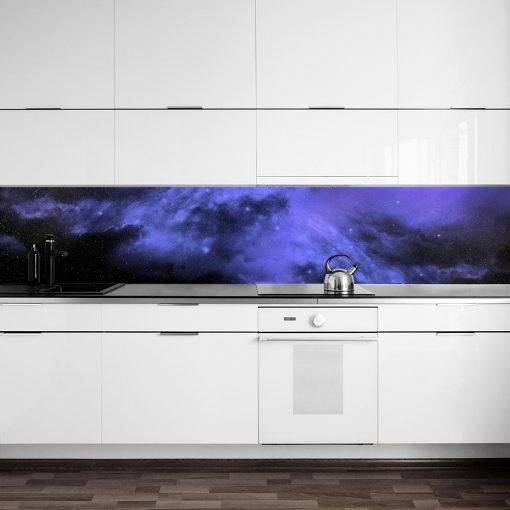 fototapeta kuchenna z galaktycznym wzorem
