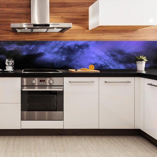 fioletowa fototapeta kuchenna