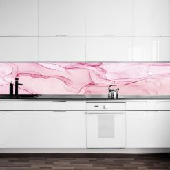 fototapeta kuchenna różowa abstrakcja
