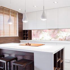 fototapeta kuchenna z różową abstrakcją