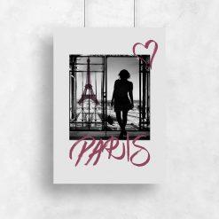 plakat kobieta wieża Eiffla