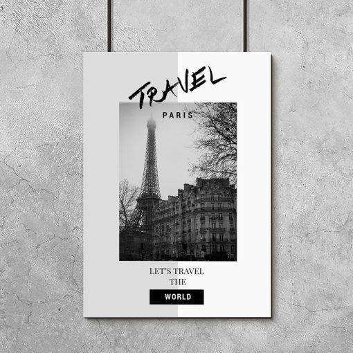 plakat let's travel the world