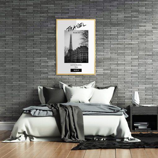 plakat czarno-biały z napisami