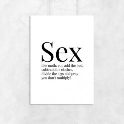 plakat z sentencją o seksie
