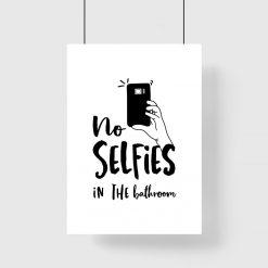 plakat zakaz selfie w łazience