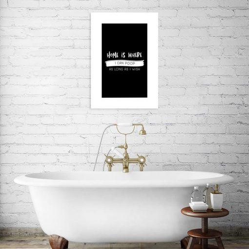plakat z zabawnym napisem