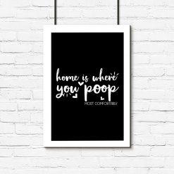 plakat zabawny napis do łazienki
