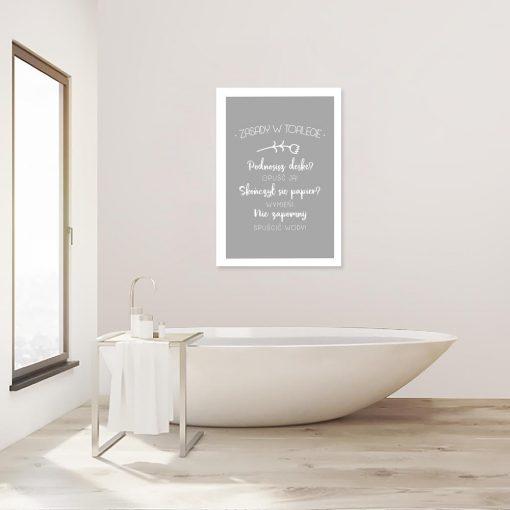 plakat zasady wc