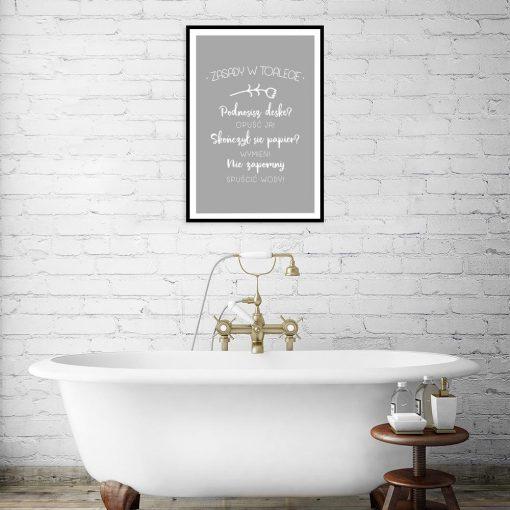 szary plakat do łazienki
