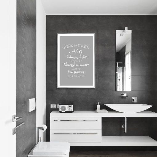plakat szary do łazienki