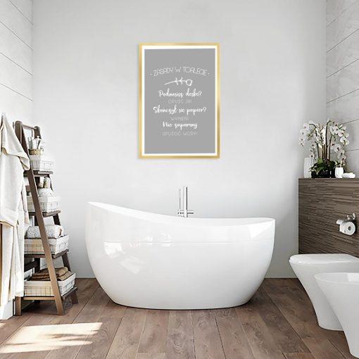 Plakat zasady w toalecie