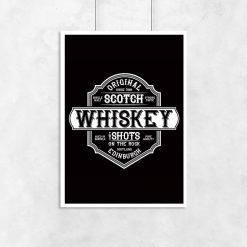 plakat etykietka whiskey