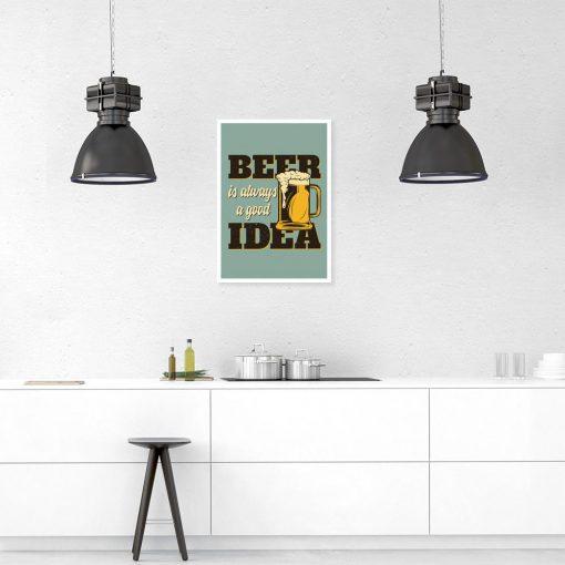 plakat z motywem piwa do kuchni