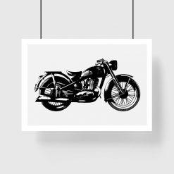 plakat z motywem motocykla