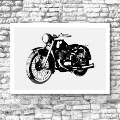 plakat z motocyklem